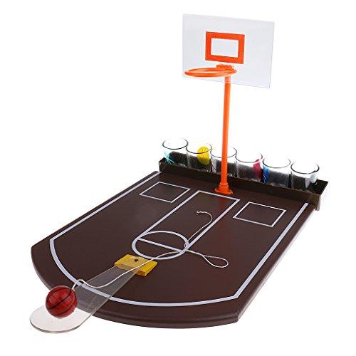 Baosity ミニ 卓上 バスケットボールショット ガラス 飲むゲーム ボードゲーム ホーム 家族 クリスマス 面白い おもちゃ