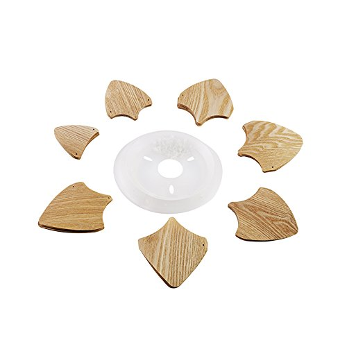 Huarsp B5201704 Fashion Pineapple Wood Veneer Material Shape Chandeliers for Restaurant, Study, Kitchen,Bedroom, etc.Burlywood by Huarsp (Image #7)