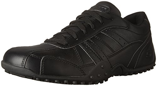 - Skechers for Work Men's Elston Relaxed Fit Resistant Work Shoe, Black, 10.5 M US