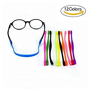 12 Colors Anti-slip Glasses Strap Sports Glasses Strap Holder for Kids ,Glasses chain 12 Pieces