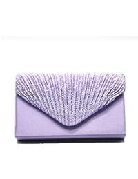 Women Evening Envelope Rhinestone Frosted Handbag Party Bridal Clutch Purse