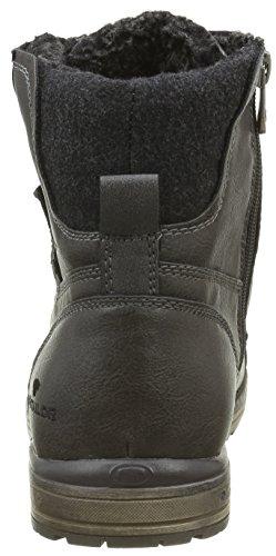 Tom Tailor 1680801, Botines para Hombre Gris - Grau (coal)