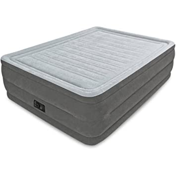 Queen 22 Dura-beam High Rise Airbed Mattress with Built-in Electric Pump with a Rugged Blend of Polyester, Rayon, Pvc, ABS and Cu. Use It As a Spare Bed for Guests or While Camping