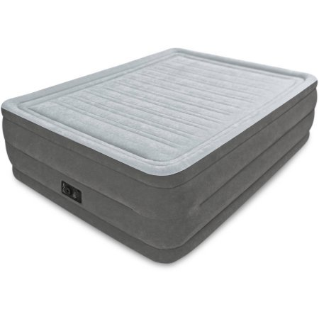 Queen 22' Dura-beam High Rise Airbed Mattress with Built-in Electric Pump with a Rugged Blend of...