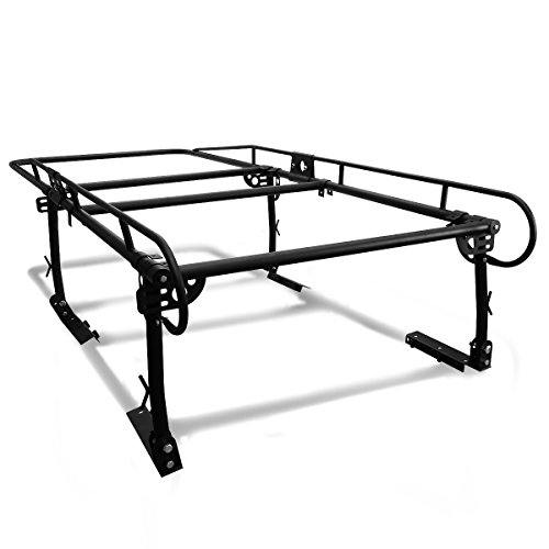 - Universal Adjustable 132 inches X 57 inches Steel Pickup Truck Ladder Rack (Black)