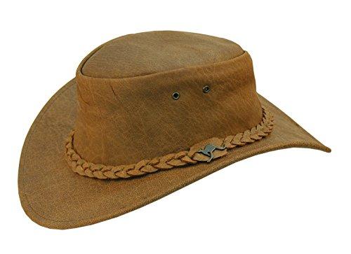Kakadu Suede Hat - Kakadu Leather Hat Nullabor 3-straid Hatband