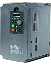 Inverter 5.5KW/7. 5KW VFD Inverter Single Phase Input and 3 Phase Output Variable Frequency Drives for CNC Spindle Motor Variable Frequency Drive (Color : 7.5kw, Input Voltage : 220)