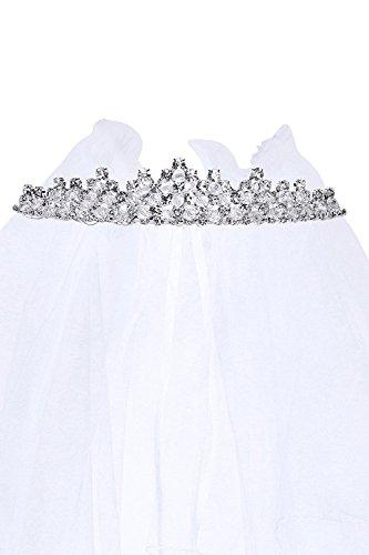 OLIVIA KOO Girls Cross First Communion Veil Tiara Crown