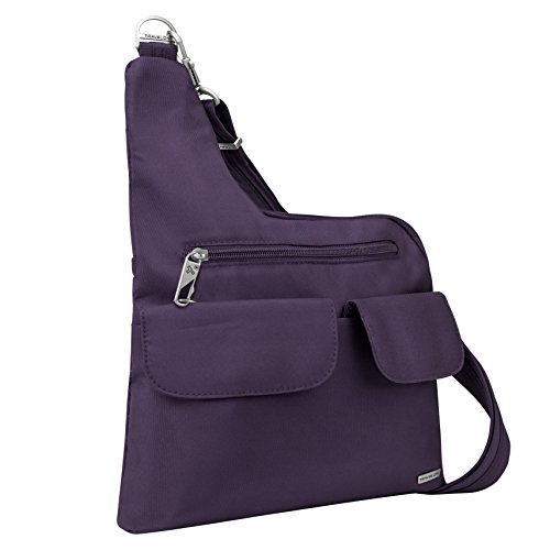 Anti-Theft Cross-Body Bag, Purple