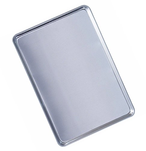 ZaZaTool - Commercial Grade 18 x 13 Half Size Aluminum Sheet Pan for Baking Bread Cookie