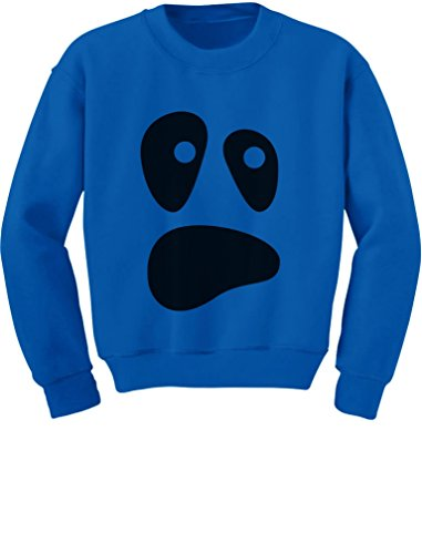 TeeStars - Funny Ghoul Face Halloween Ghost Costume Toddler/Kids Sweatshirts 5/6 Blue