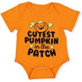 Halloween Baby Boys Girls Clothes Cutest Pumpkin Patch Costumes Rompers Outfits (0-3 Months)