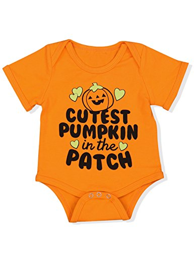 Halloween Baby Boys Girls Clothes Cutest Pumpkin Patch Costumes Rompers Outfits (3-6 Months) ()
