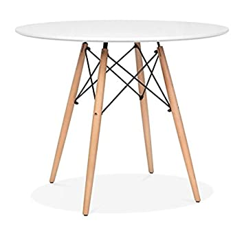 mmilo round modern dining table diameter 80 80cm amazon co uk