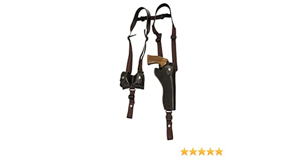MADE IN USAVertical Shoulder Holster w// Double Mag Pouch for Glock 17 /& 21