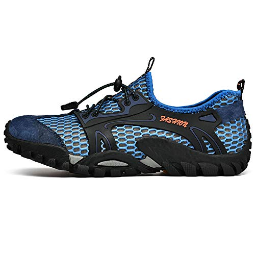 Outdoor Sports Climbing Backpacking Shoes Sneakers Trekking Boots FLARUT blue Hiking B Running Men 86wIOXtn