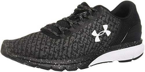 (Under Armour Men's Charged Escape 2 Running Shoe, Black (002)/White, 9.5)