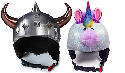 Fun Helmet Cover bundle The Viking And Sparky the Unicorn by CrazeeHeads