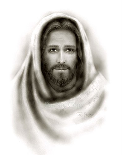 Picture of Jesus Christ black & white portrait print