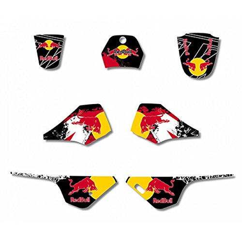 RD BULL GRAPHICS DECAL STICKERS KIT YAMAHA PW80 PW COYOTE PY80 3M
