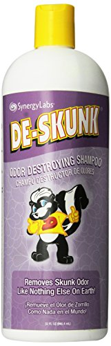 De-Skunk Odor Destroying Shampoo - Formulated with World's Most Powerful De-Greasers to Remove Skunk Odor, Guaranteed - Only Skunk Shampoo You Need - Keep On Hand for Emergencies (32 oz.) (The Best Skunk Odor Removal)