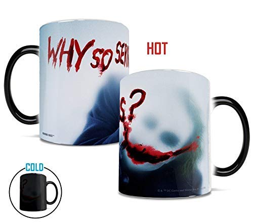 Joker - Dark Knight Movie - Why So Serious - Heath Ledger - Morphing Mugs Heat Sensitive Mug - Color Changing Heat Reveal