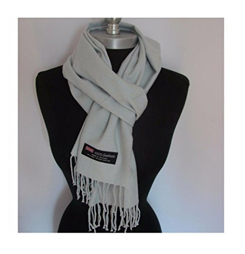 [Silver Grey_(US Seller)Scarf Unisex New Fashion (Solid) Scotland Made Warm] (Buffalo Bob Costume)