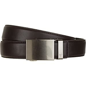 Mission Belt Men's Leather Ratchet Belt, 40mm Metal Collection