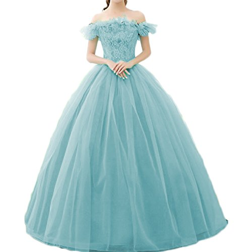 Ainisha Women\'s Sweetehart Corset Lace Princess Quinceanera Dresses Plus  Size Sweet 16 Prom Ball Gown Formal Prom Party Gown Blue,8