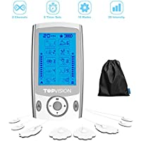TOPVISION Electronic Tens Unit & Muscle Stimulator/Massager