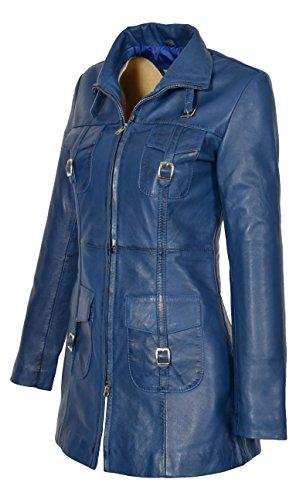 Coupe Manteau Veste Of slim Leather House Up ajusté Zip décontracté en cuir Style Women 6Sxvq