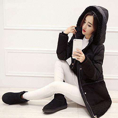 Slim Femmina Lungo Jacket Fxchen Warm Clothing Di Donna Giacche Cappuccio Cotone Xxl Size Plus Inverno Parka Da Outwear Imbottito Cappotto Con TwTqxz81O