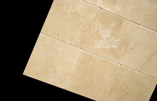 Crema Marfil 4X4 Marble Polished Tile