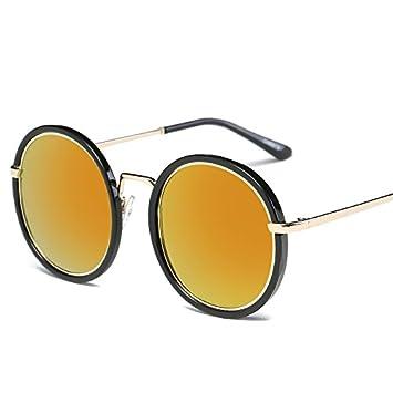 TL-Sunglasses Gafas de Sol para Mujer de Anteojos Redondos ...