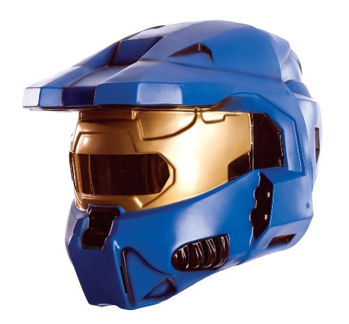 Halo Universe Spartan 2-Piece Mask, Blue, One (Spartan Costumes Halo)