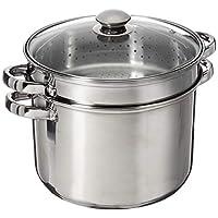 8 Quart 18/10 Juego de utensilios de cocina de acero inoxidable de 4 piezas con base encapsulada