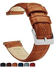 Barton Alligator Grain - snabbfrigörande läderarmband - välj färg och bredd - 16 mm, 18 mm, 20 mm, 22 mm eller 24 mm