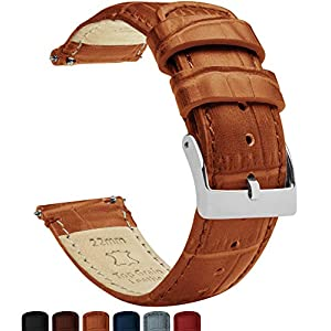 20mm Toffee Brown – Standard Length – Barton Alligator Grain – Quick Release Leather Watch Bands
