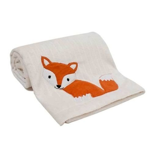 Woodland Tales Fox Forest Animals Unisex Baby Crib Blanket by Lambs & Ivy
