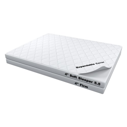 8 Inch Soft Sleeper 5 5 Twin Mattress With 4 Inch Visco