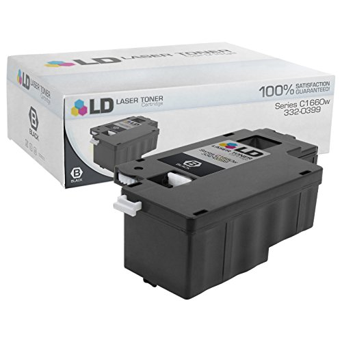 LD Compatible Toner to Replace Dell 332-0399 (4G9HP) Black Toner Cartridge for Your Dell C1660w Color (Dell Laser System)