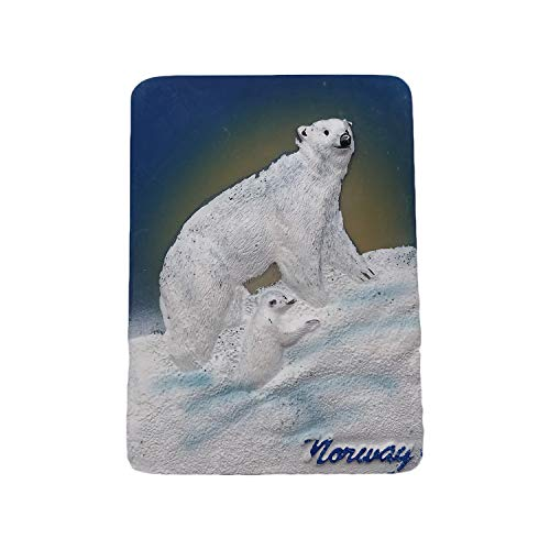 Norway Bear 3D Refrigerator Magnet Tourist Souvenirs Resin Magnetic Stickers Fridge Magnet Home & Kitchen Decoration from China