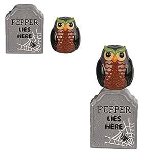 Midnight Owl Salt & Pepper Shaker Set