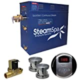 Steam Spa OA1200BN-A Oasis 12 KW Quick Start Acu-Steam Bath Generator Package with Built-In Auto Drain, Brushed Nickel