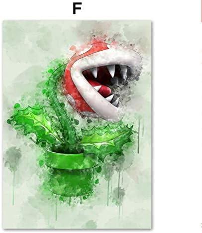 Anime japonais jeu Super Mario Bros Bowser Yoshi dessin anim/é mur Art toile peinture affiches et impressions mur photos b/éb/é enfants chambre p/épini/ère d/écor 30 40 cm
