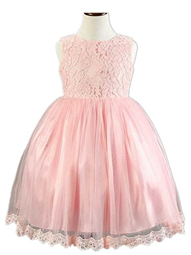 Newland Girls' Tulle Flower Bowknot Princess Wedding Dress For Toddler and Baby Girl (Toddler Fancy Dress)
