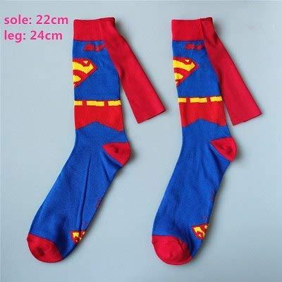 Grocoto Boys Costume Accessories - Batman Superman Spiderman Iron Man Captain America The Hulk Thor Knee-High Cosplay Sock Cartoon Pattern Sports Casual Socks 1 PCs ()