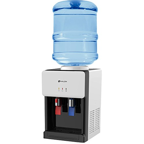 Avalon Premium Hot/Cold Top Loading Countertop Water Cooler Dispenser With Child Safety Lock. UL/Energy Star Approved- White - ()