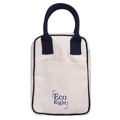 Lunch Natural - EcoRight Canvas Insulated Lunch Bag for Women, Men, Kids - 5 ltrs Capacity | Reusable | Washable | Ethically Manufactured - Natural