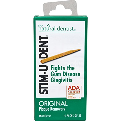Mint Plaque Removers Stimudent - Stim-U-Dent Plaque Removers Mint 25 Each (4 Pack)